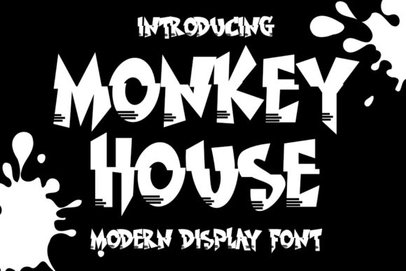 Print on Demand: Monkey House Display Fuente Por Eddygoodboy