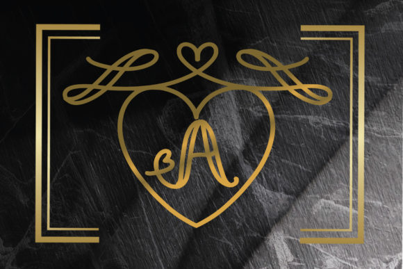 Print on Demand: Monogram Love Decorative Font By goodigital