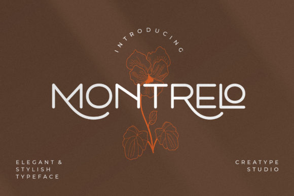 Print on Demand: Montrelo Serif Font By CreatypeStudio