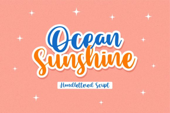 Print on Demand: Ocean Sunshine Script & Handwritten Font By allouse.studio