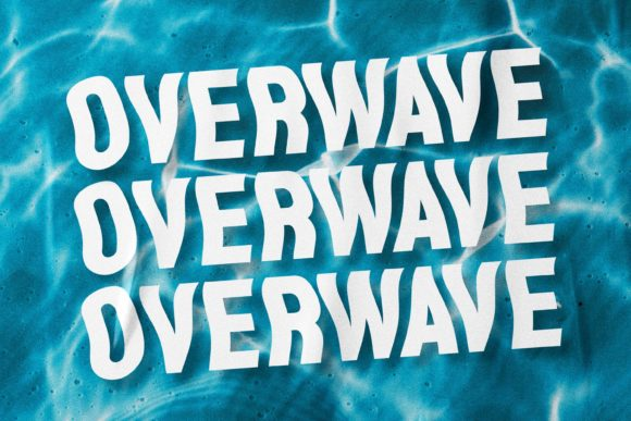 Print on Demand: Overwave Display Font By almarkhatype