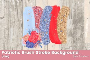 Patriotic Brush Stroke Background Graphic Backgrounds By Glam Creations
