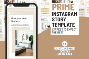 Print on Demand: Prime Instagram Story Canva Templates Graphic Presentation Templates By SnapyBiz
