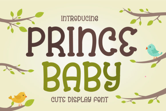 Print on Demand: Prince Baby Display Font By OKEVECTOR