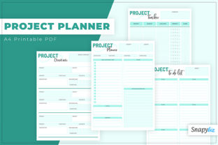 Print on Demand: Project Planner | Printable Graphic Print Templates By SnapyBiz
