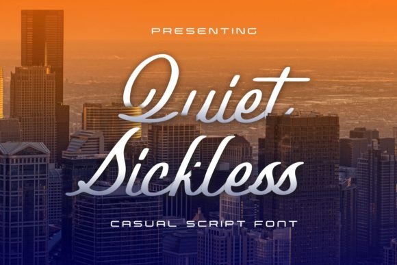 Print on Demand: Quiet Sickless Script & Handwritten Font By allouse.studio