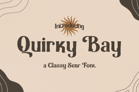 Print on Demand: Quirky Bay Serif Font By TypeFactory