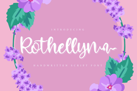 Print on Demand: Rothelyn Script & Handwritten Font By Vunira