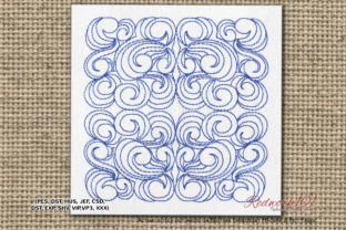 Round Pattern Paisley Embroidery Design By Redwork101