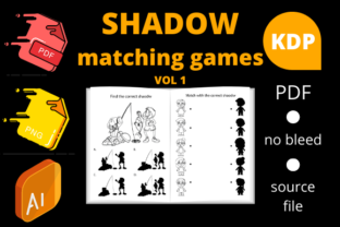 Print on Demand: Shadow Matching Games for Kids Graphic KDP Interiors By Dunkyshot