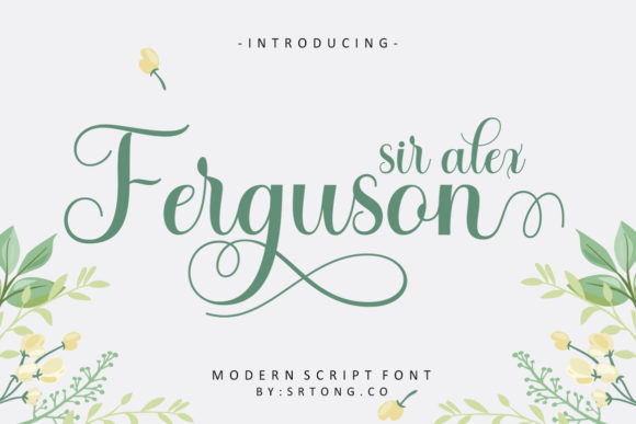Print on Demand: Sir Alex Ferguson Script & Handwritten Font By alvesco801