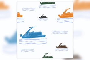 Sport Arch Pontoon Boat Seamless Pattern Graphic Patterns By faqeeh