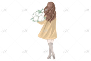 Spring Girl in a Coat Illustration Graphic Illustrations By MaddyZ