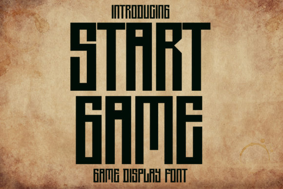 Print on Demand: Start Game Display Font By Eddygoodboy
