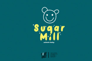 Print on Demand: Sugar Mill Display Font By Fourlines.design