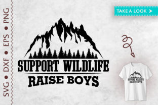 Print on Demand: Support Wildlife Raise Boys Mothers Day Graphic Print Templates By Tweetii