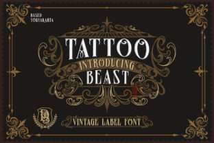 Print on Demand: Tattoo Beast Blackletter Font By Dansdesign