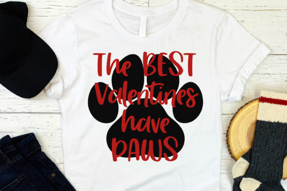 The Best Valentines Have PAWS Svg, Png Graphic Print Templates By CuteShopClipArt