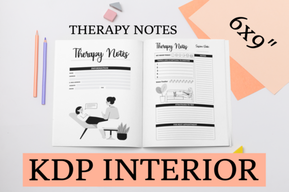 Print on Demand: Therapy Notes | KDP Interior Graphic KDP Interiors By KDP Mastermind