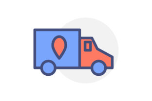 Truck Delivery Flat Icon Colour Style Graphic Icons By iconiqu