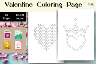 Print on Demand: Valentine Heart/Love Coloring Page - KDP Graphic Coloring Pages & Books Kids By Sei Ripan