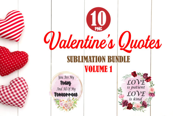 Print on Demand: Valentine Quotes Bundle 1 Sublimation Graphic Crafts By TripleBcraft