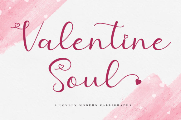 Print on Demand: Valentine Soul Script & Handwritten Font By AEN Creative Studio