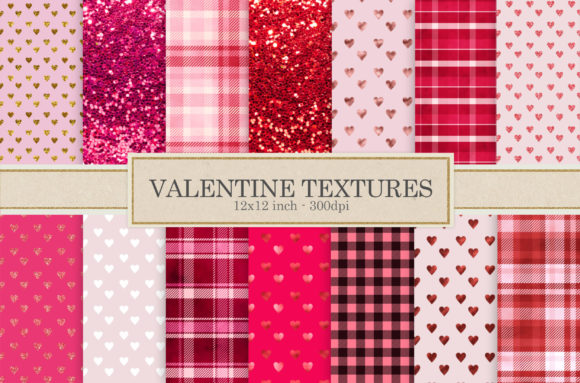 Print on Demand: Valentine Days Digital Papers Graphic Textures By The Rose Mind