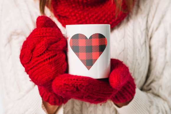 Valentine Heart Svg with Buffalo Plaid Graphic Crafts By CuteShopClipArt