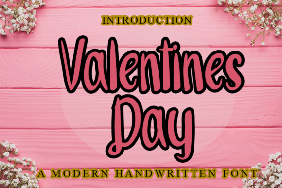 Print on Demand: Valentines Day Script & Handwritten Font By merge354