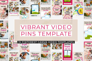 Print on Demand: Vibrant Pinterest Video Pins Template Graphic Presentation Templates By SnapyBiz