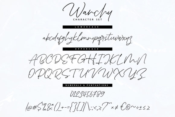Wanchy Font Preview