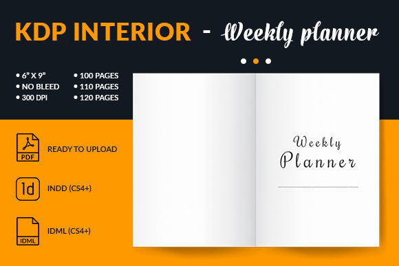 Print on Demand: Weekly Planner 6x9 Interior for Kdp Graphic KDP Interiors By mstartwork