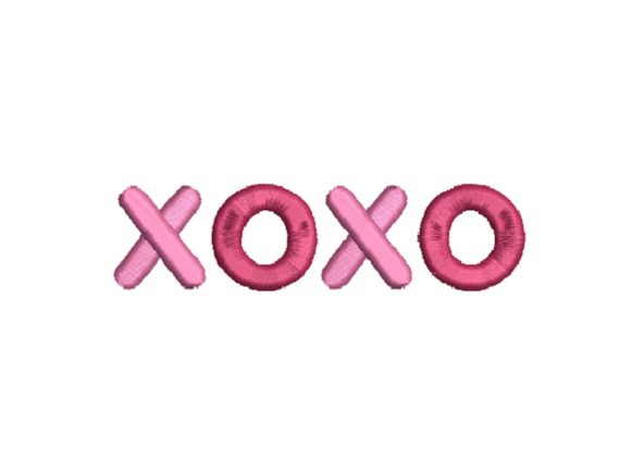 XOXO Valentine's Day Embroidery Design By carasembor