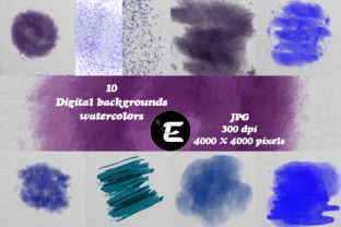 Print on Demand: Watercolor Background Graphic Backgrounds By grafikestelle