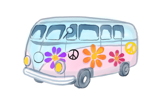 Hippy Camper Van Cut File