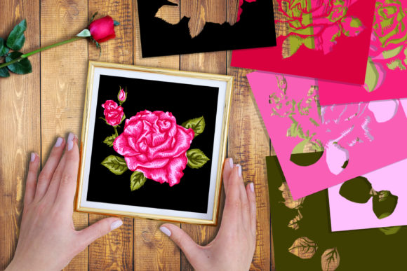 3D Valentine Rose Flowers Clipart -1 Graphic Download
