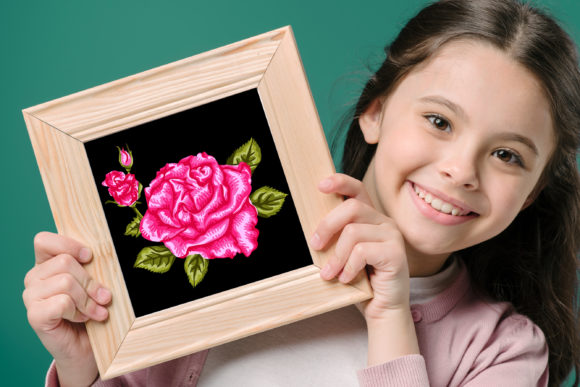 3D Valentine Rose Flowers Clipart -1 Graphic Preview
