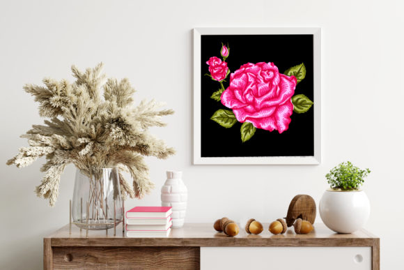 3D Valentine Rose Flowers Clipart -1 Graphic Image