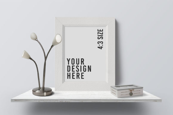 4:3 Modern Photo Frame Mockup Graphic Product Mockups By nopxcreative
