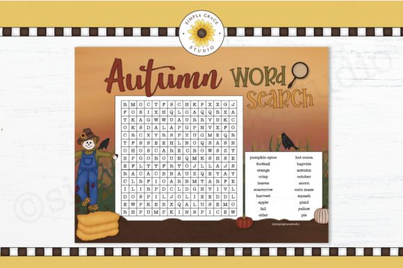 Autumn Word Search Graphic Teaching Materials By Simple Grace Studio