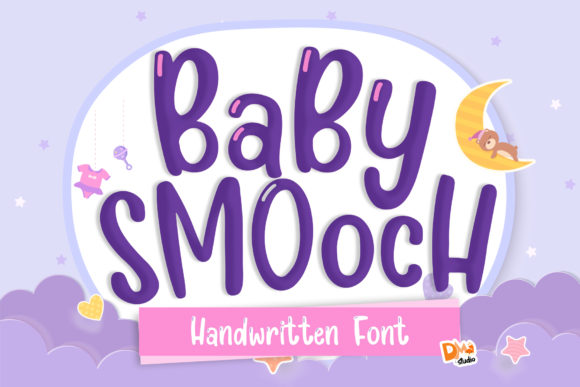 Print on Demand: Baby Smooch Display Font By dmletter31
