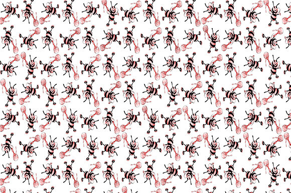 Print on Demand: Bees Hive Honey Pattern Background Graphic Patterns By Chiplanay