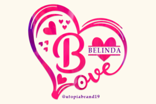 Print on Demand: Belinda Monogram Decorative Font By utopiabrand19