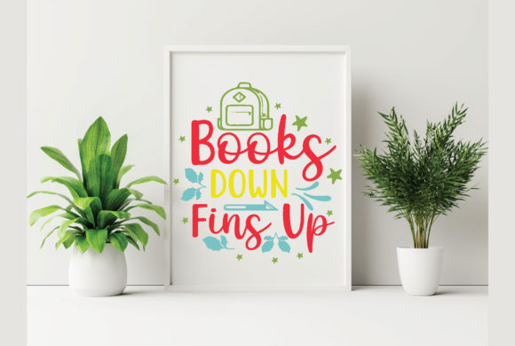 Books Down Fins Up Graphic Crafts By craftstore