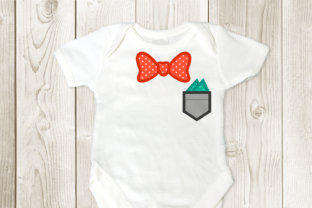 Bow Tie and Pocket Applique Boys & Girls Embroidery Design By DesignedByGeeks
