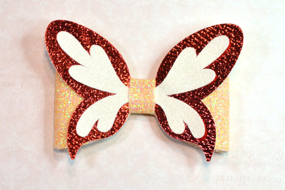 Butterfly Bow Template Graphic 3D SVG By ArtiCuties