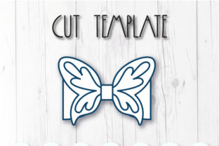 Butterfly Bow Template Graphic 3D SVG By ArtiCuties 2