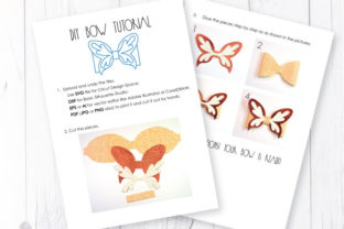 Butterfly Bow Template Graphic 3D SVG By ArtiCuties 3