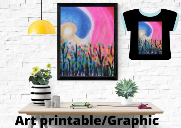 Colorful Landscape Art Printable Graphic Illustrations By Articolory